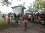 Locals from Taperoi village join in dancing to beat of Garamut. More than 120 people attended. Pix by Manoi Paliau